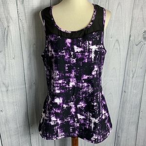 TORRID ACTIVE Purple Black Print Tank Top Size 0